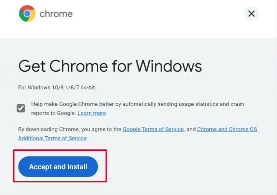 Chrome download and installation tutorial for Windows 10