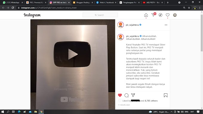 Silver Play Button Alhamdulillah!