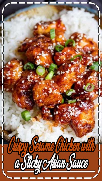 Crispy Sesame Chicken with a Sticky Asian Sauce - tastier than that naughty takeaway and super simple to make. Sweet, salty, crispy, sticky and a little bit spicy - it covers all the bases for one of these meals that everyone polishes off. Its a real family favourite!