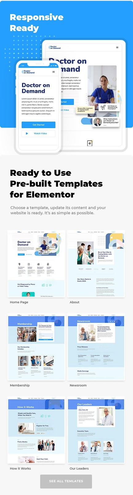 Online Consultations Elementor Template Kit