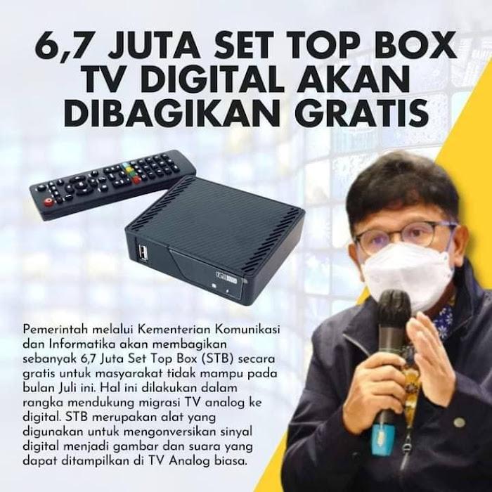 Pemerintah Akan Bagikan STB TV Digital