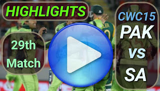 PAK vs SA 29th Match