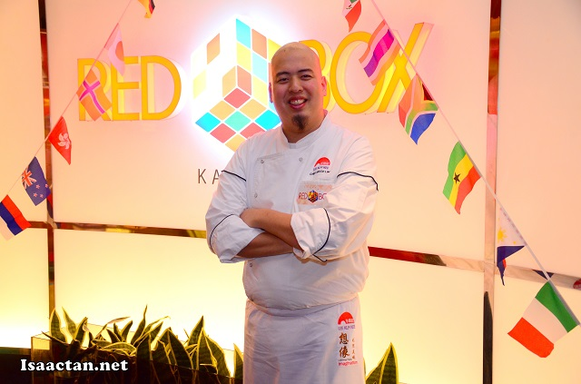 Chef Bruce Lim posing for the camera