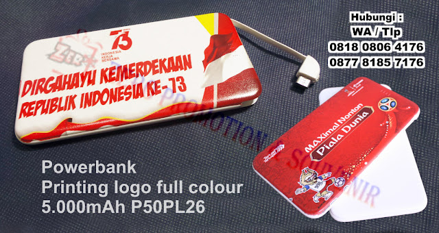 Souvenir Powerbank Printing logo full colour 5.000mAh P50PL26