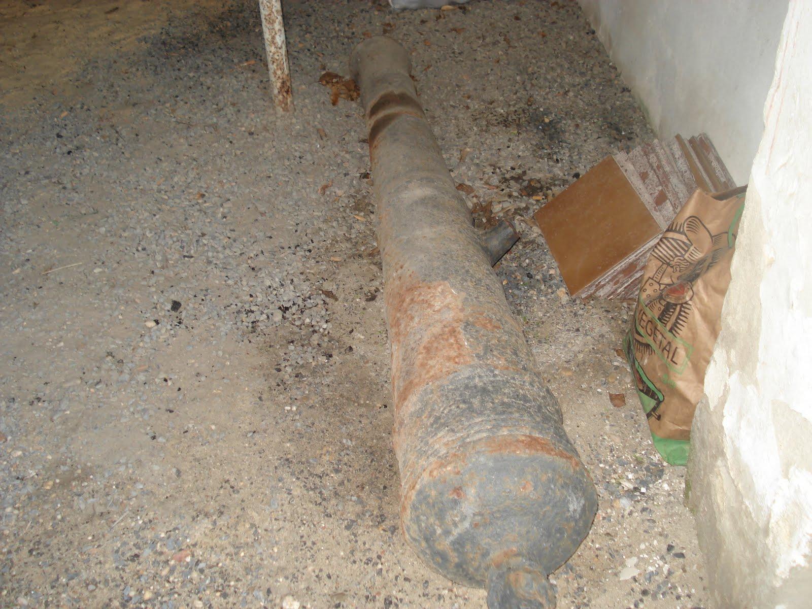 Cañón encontrado en Mazagón (www.mazagonbeach.com)