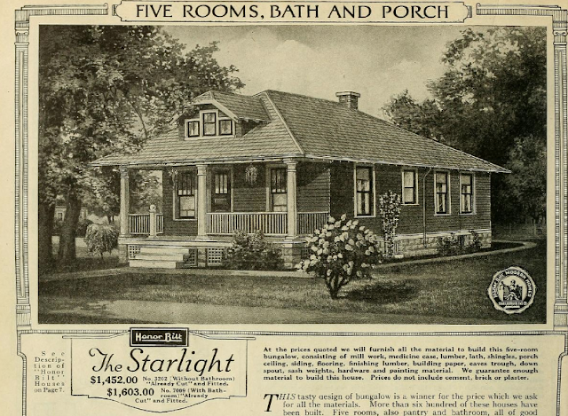 black and white vintage Sears catalog image of Sears Starlight, 1923
