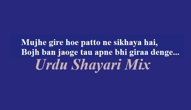 Mujhe gire hoe | Sad poetry | Sad shayari