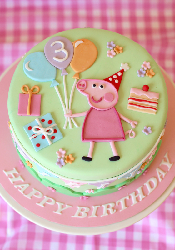 Peppa Pig First Birthday Cake