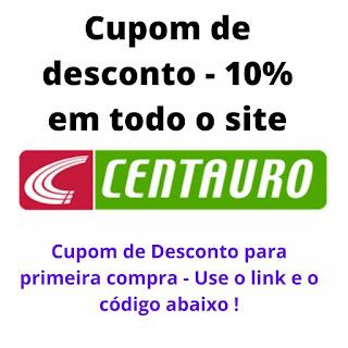 Cupom de Desconto Centauro Artigos Esportivos - 10% na Primeira Compra !