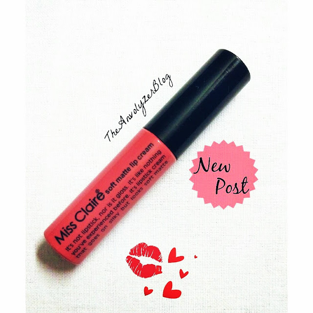 Review: Miss Claire Soft Matte Lip Cream in Shade 08 with Swatches