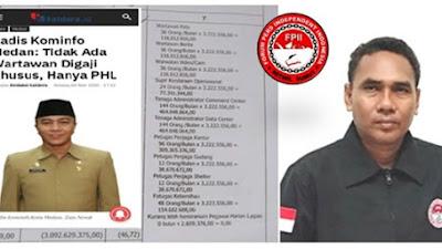 Catut Nama Wartawan, PHL Dinas Kominfo Medan  Diduga Keciprak Gaji dari APBD Medan