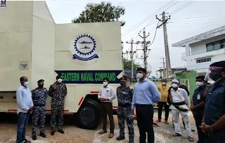 भारतीय नौसेना ने पलासा कोविड केयर सेंटर को 'ऑक्सीजन ऑन व्हील्स' प्रदान किए