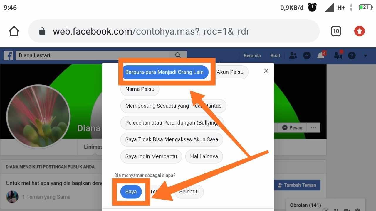 Akun Facebook diretas email diganti