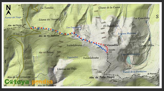Ruta al Pico Vizacodillo (techo de la Sierra de la cabrera) en la Noche de San Juan