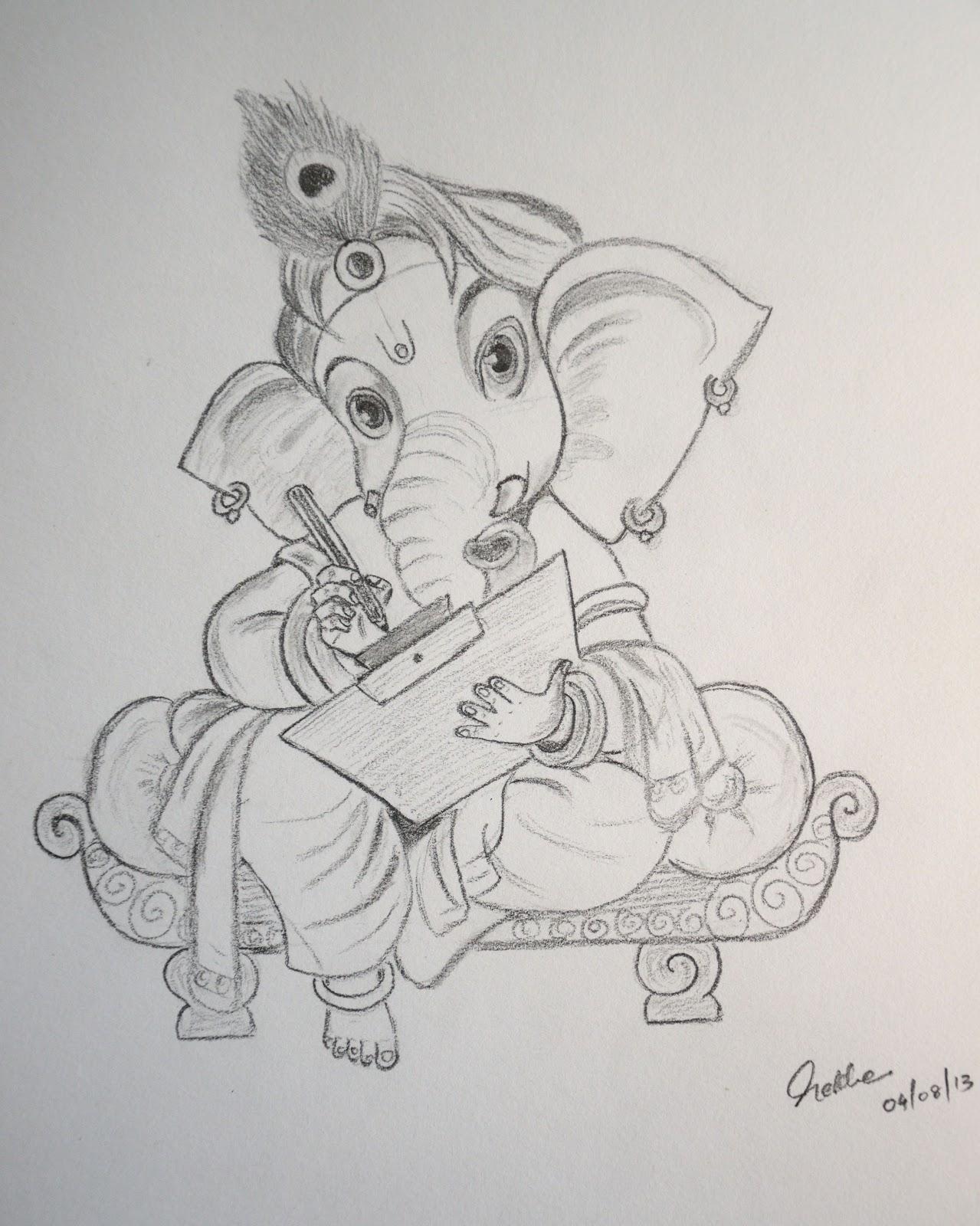 Easy Pencil Drawings Of Lord Ganesha Pencildrawing2019