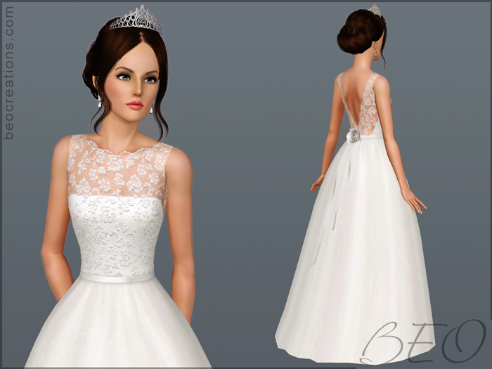 My Sims 3 Blog: Wedding Gown 14 By BEO