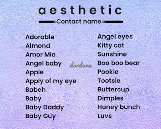 Nama Kontak Aesthetic untuk Pacar, Sahabat dan Teman
