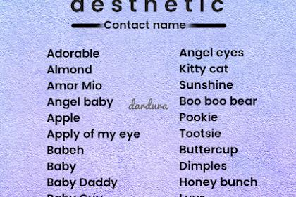 Kumpulan Nama Kontak Aesthetic untuk Pacar, Sahabat dan Teman