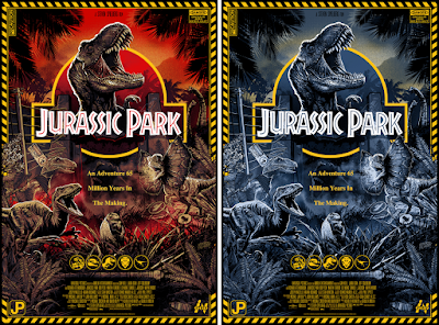 Jurassic Park Screen Print by Leonardo Paciarotti x Bottleneck Gallery