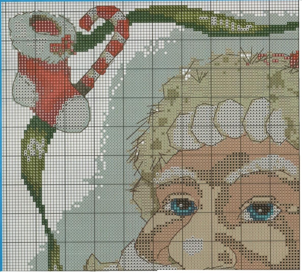 Babbo Natale Punto Croce.Professione Donna Schema Punto Croce Babbo Natale Sul Cuscino