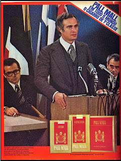 propaganda cigarros Pall Mall - 1975, Reclame 1975