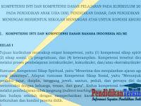 Kompetensi Inti dan Kompetensi Dasar K13 PAUD, SD, SMP, SMA Kondisi Khusus Terbaru
