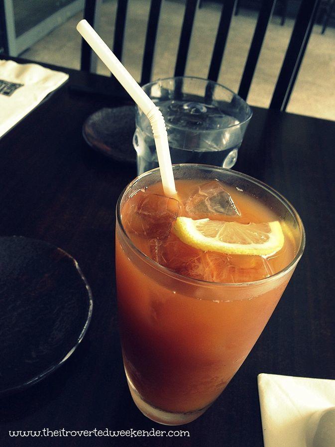 Iced tea at Kichitora of Tokyo