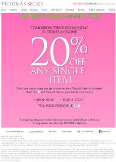Victoria's Secret coupons march