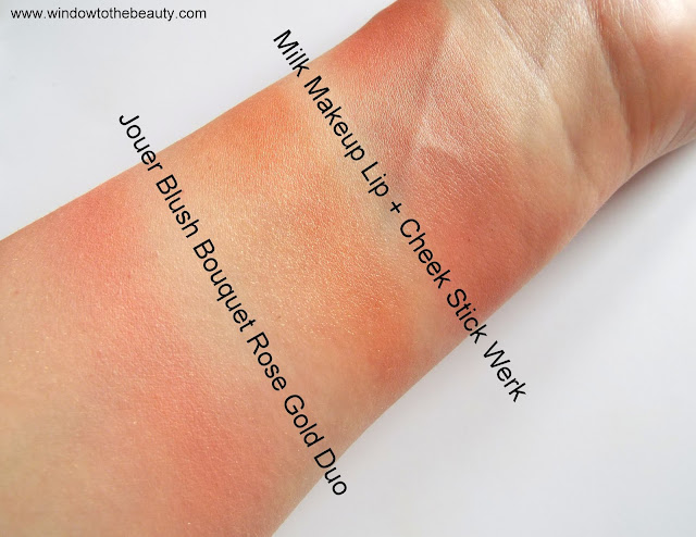 cream blush vs powder blush swatches