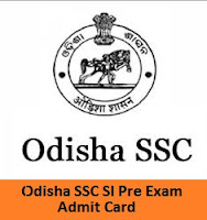 Odisha SSC SI Pre Exam Admit Card