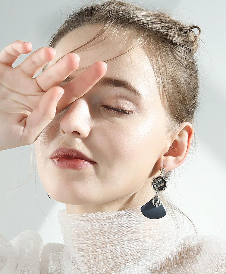 四分之一拼布風耳環