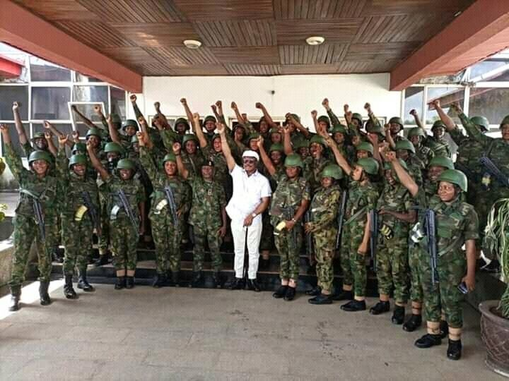 Photos Of Gallant Female Soldiers Deployed To Anambra State To Restore Normalcy #Arewapublisize