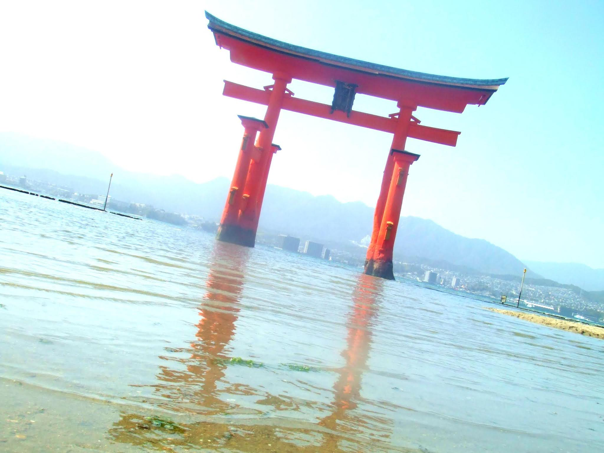 広島県廿日市市の厳島神社大鳥居の写真素材です。