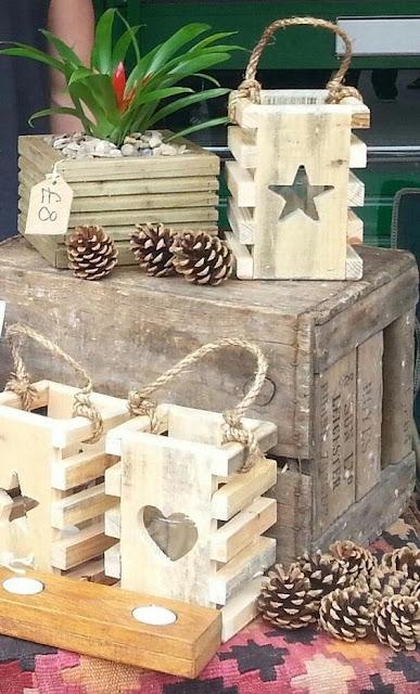 farolillos de madera diy