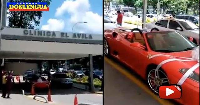 Le regalaron un Ferrari y se lo llevaron a la puerta de la Clínica El Ávila