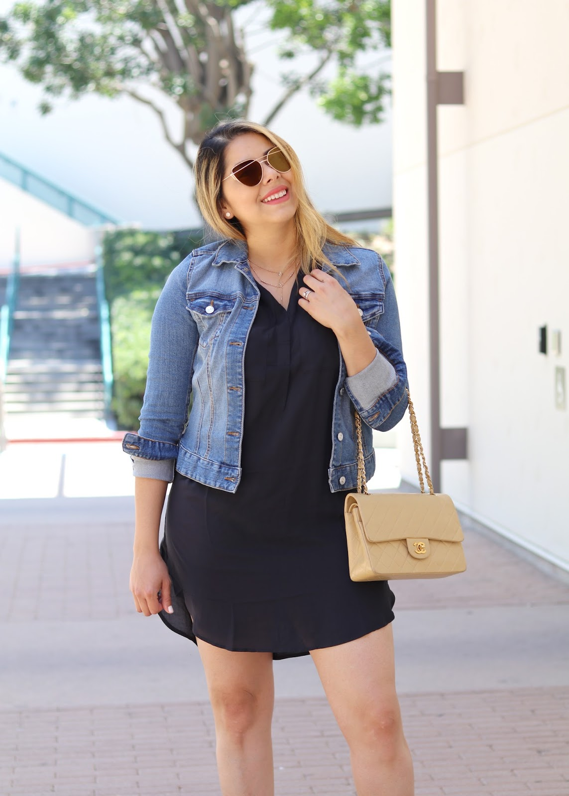 H&M outfit, H&M black shirtdress, how to wear a black shirtdress, summer 2016 lookbook