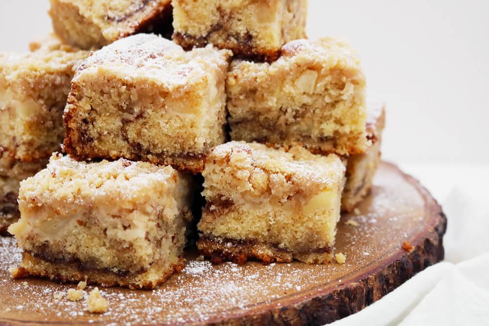 Apple and Cinnamon Crumble Traybake  | Take Some Whisks
