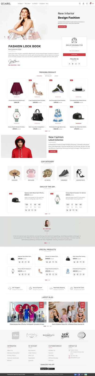 Best Fashion Opencart Theme