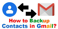 How to backup contacts in Gmail?