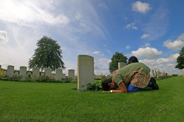 Graves of Indian Soldiers of First World War in Belgium - The Huts Cemetery