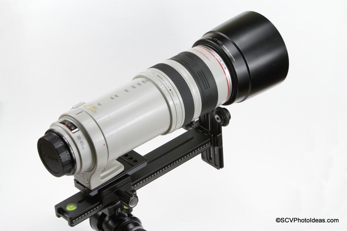 Desmond DAC-25+DLR-2502B+DBC-50+Sunwayfoto YLS-01 supporting Canon EF 100-400 IS USM