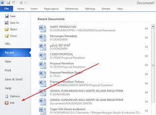 3 Cara Mengoperasikan dan Mengakhiri Microsoft Office Word