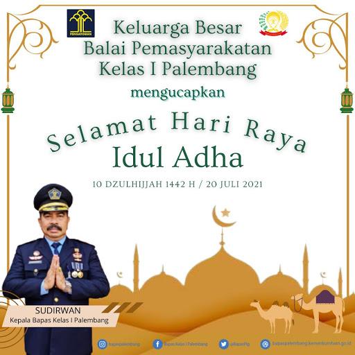 Ucapan Selamat Idul Adha dari Kabapas Kelas I Palembang