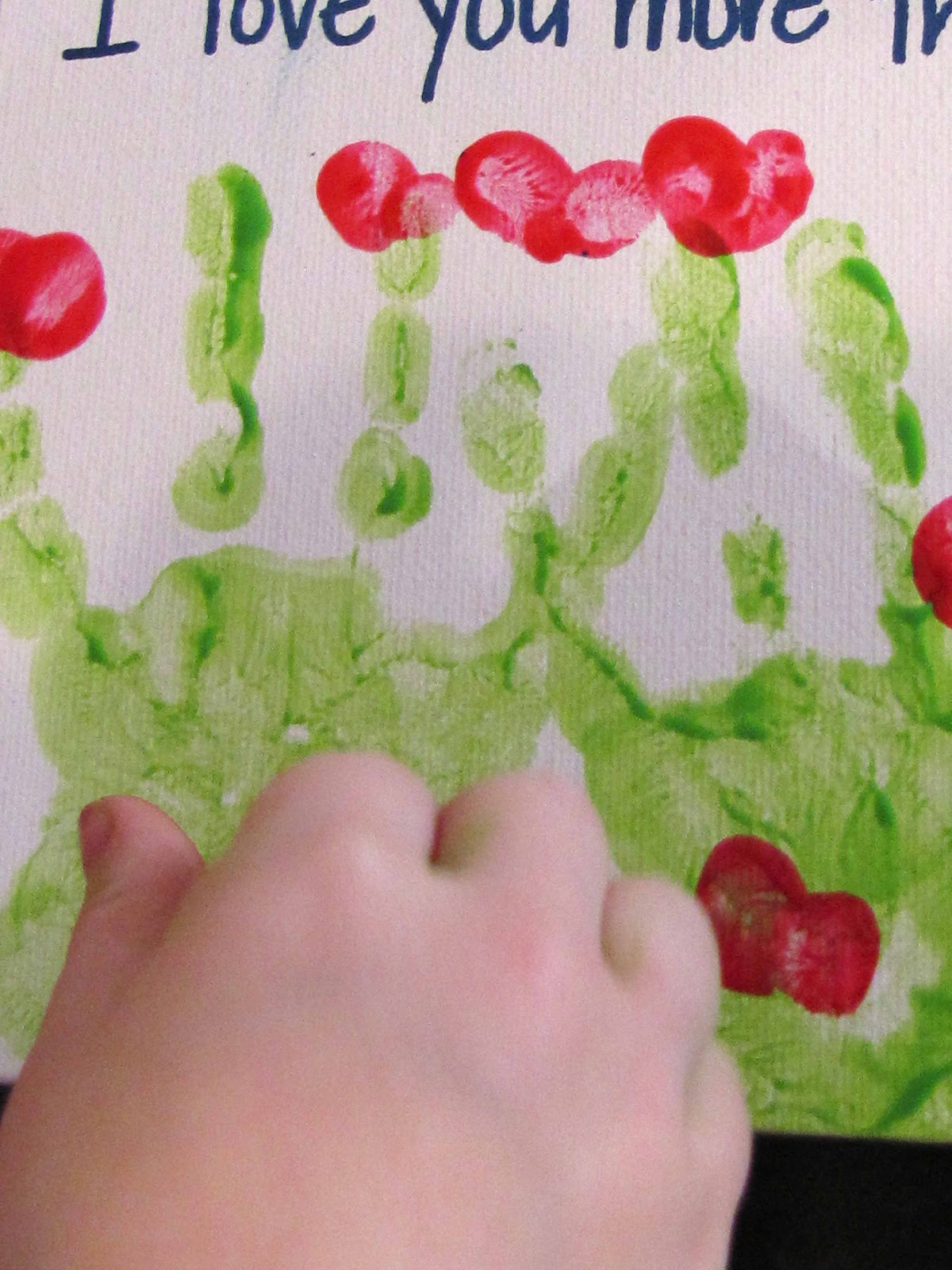 Valentines handprint keepsake Activity