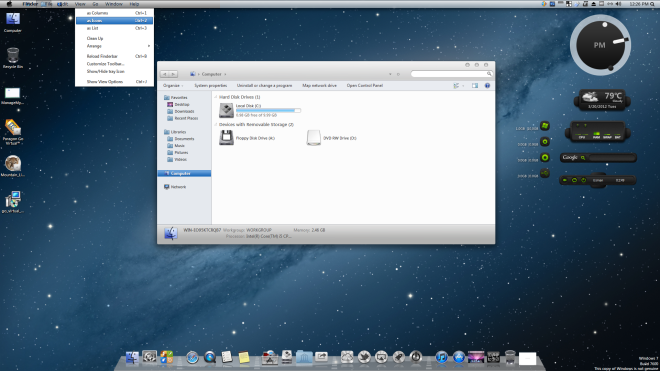 How to make Windows 7 look like MAC OS X Lion Mountain
