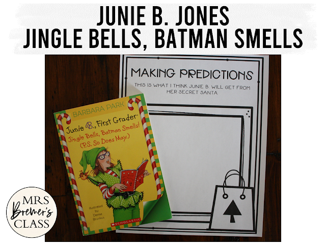 Junie B Jones Jingle Bells Batman Smells book study unit with Common Core aligned literacy companion activities for First Grade and Second Grade