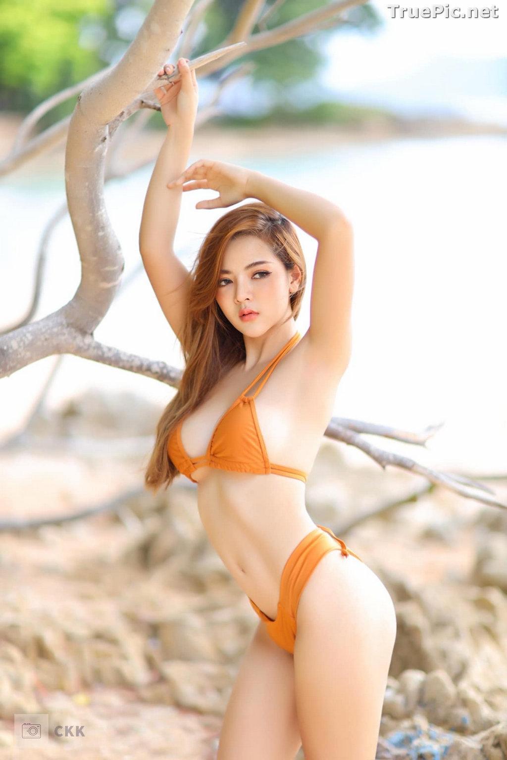 Image Thailand Model - Montakan Kaengraeng - Sexy Orange Bikini - TruePic.net - Picture-10