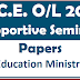 G.C.E. O/L Supportive Seminar Papers - Education Ministry