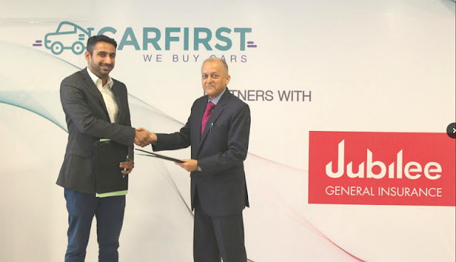 CarFirst joins hands with Jubilee General Insurance for auto-insurance