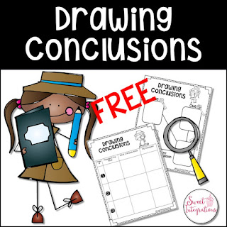 Drawing Conclusions Free graphic organizers cover page